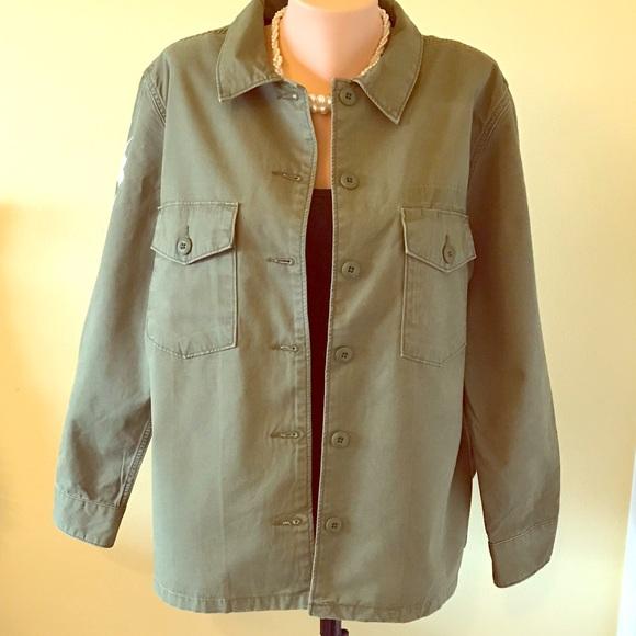 Levi's Jackets & Blazers - Levi's Women's Floral Embroidered Shirt Jacket XL